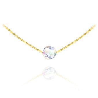 24K  gold  choker necklace with swarovski crystal