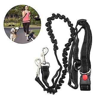 Adjustable Hand Free Dog Leash for Dog Pet Walking Running Jogging Lead Waist Belt Chest Strap