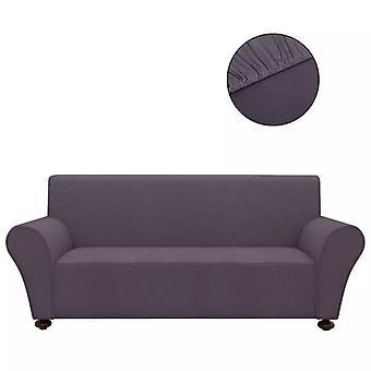 vidaXL Sofahusse sohva kansi Stretchhusse antrasiitti polyesteri jersey