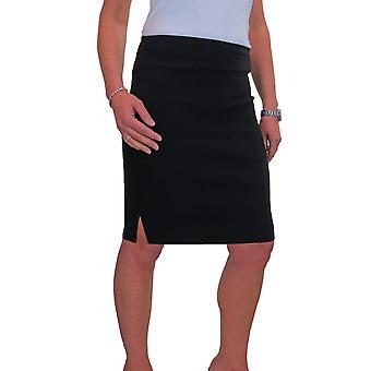 Kvinner's Smart Stretch Blyant Skjørt Damer Avslappet Kontor Knelengde Slim Fit Bodycon Skjørt 6-18