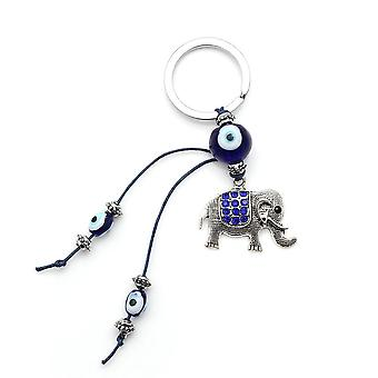 Elephant Lucky Charms, Eye Beads, Tassel, Amulet Car Keychain, Decoration