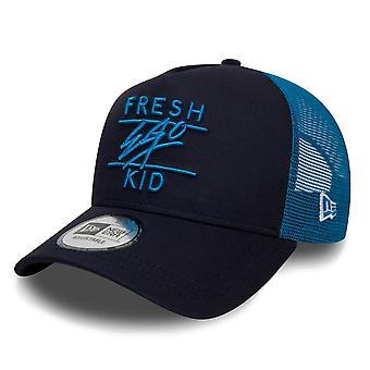 Fresh Ego Kid | Fek-600 New Era Mesh Trucker Cap - Blue