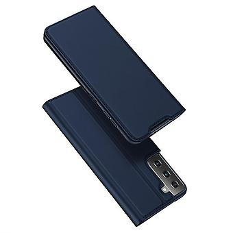 For samsung s21 ultra 5g case shockproof anti fall flip flap cover blue