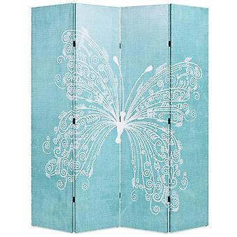 vidaXL部屋のディバイダー折りたたみ可能な160 x 170 cm蝶の青