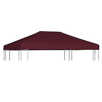 vidaXL pavilion roof 310 g / m2 3x4 m wine red