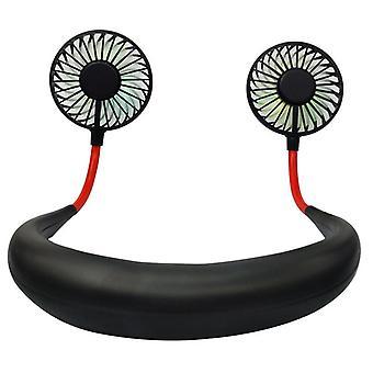 Usb-tuulettimen valovoimainen niskatuuletin lataa mini kannettavaa pientä tuuletinta