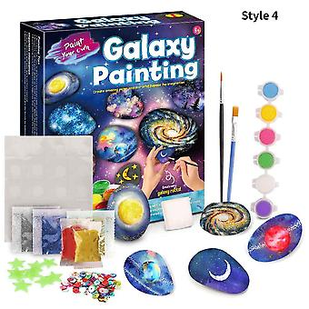 Children DIY Stone Graffiti Drawing Toy Painting Montessori Set Girl Educational Handmade Multicolor Material Package Gift