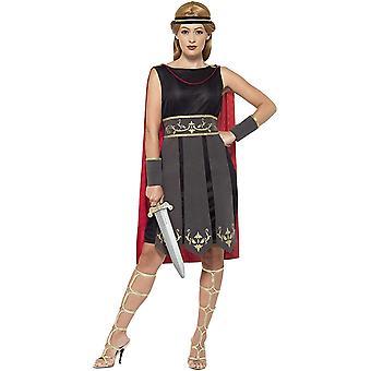 FengChun 45496M - Damen Rmische Kriegerin Kostm, Kleid mit Umhang, Arm Stulpen und Haarband, Gre: