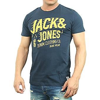 Jack And Jones Raffa Tee Short Sleeve, Blue (Blue (Navy Blazer), 2XL (3er Pack) Herren