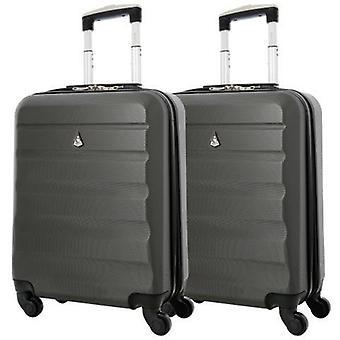 Aerolite (55x40x20cm) lichtgewicht harde shell cabine handbagage | 4 wielen (x2 set)