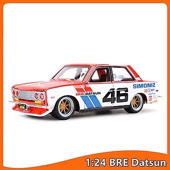 1:24 BRE Datsun 510 Staattiset die cast ajoneuvot Keräilymalli Urheiluauto lelut| Diecastit