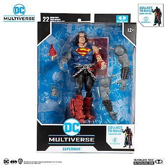 "Mcfarlane Death Metal Superman DC 7"" Action Figure Darkfather BAF"