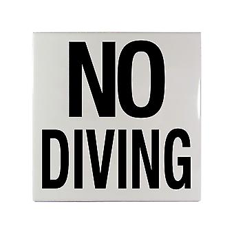 """Inlays C621501 6"""" x 6"""" NO DIVING (Word Only) Ceramic Tile"""
