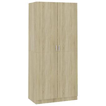 vidaXL Garderobe Sonoma Oak 90×52×200 cm Spaanplaat