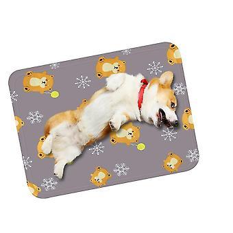 大きな灰色の夏の猫マットマットは、一口耐性犬小屋アイスマットx484です