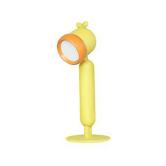 Keltainen lasten työpöytälamppu USB latautuu lukulamppu silmäsuojalla dt5121