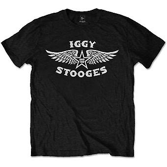 Iggy & The Stooges - Wings Men's Large T-Shirt - Black
