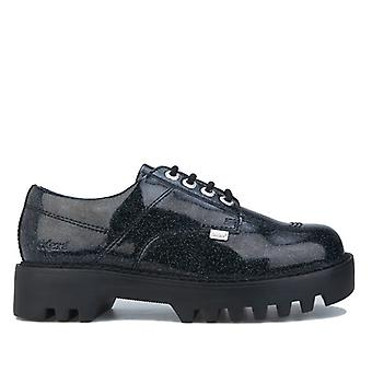Women's Kickers Kizziie Derby Patent Leather Shoes in Black