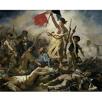 The Liberty Leading The People, Eugene Delacroix Art Reproduction.romanticism Hd Art Print Poster, Canvas Prints Wall Art For Home Decor Pictures