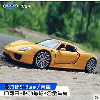1:24 Porsche 911gt3 rs urheiluautosimulaatio seos automalli käsityöt