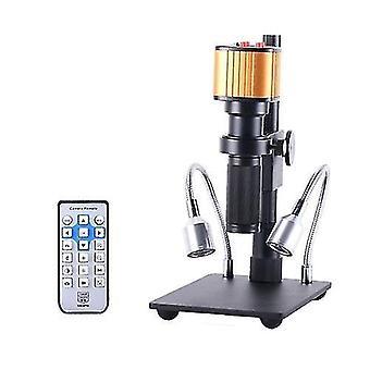 16MP Elektronisches Video Stereo Digital USB Industrie Mikroskop Kamera 150X C-Mount Objektiv Ständer für