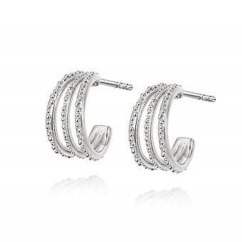 Daisy Amanda Huggie Hoop Sterling Silver Earrings HUG10_SLV