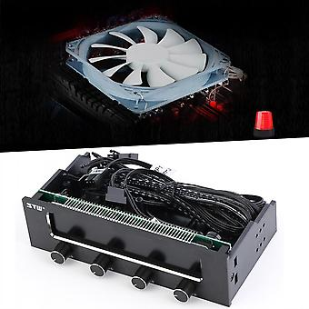 """5.25"""" Lcd Panel Fan Speed Temperature Controller Governor Pc Hardware Protector"""