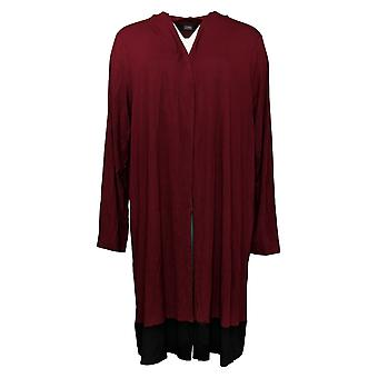Dennis Basso Suéter de Mujer Soft Touch Long Sleeve Cardi Wine A343902