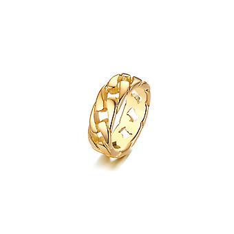 (8) טבעת טבעת הנצח של שרשרת קישור קובנית - זהב 9