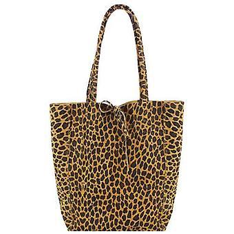 Leopard Print Mocka Läder Tote Shopper