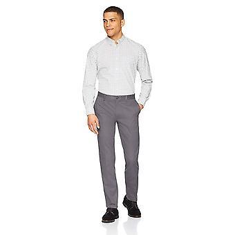 Essentials Heren Slim-Fit Rimpelbestendig, Grijs, Maat 38W x 30L