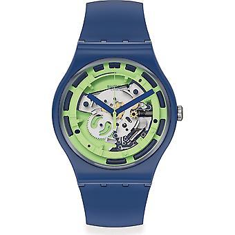 Reloj Swatch Suon147 Green Anatomy Black Silicone