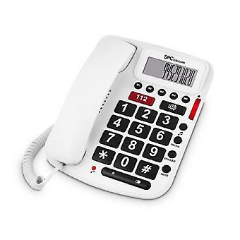 Téléphone fixe pour le SPC âgées 3293B blanc