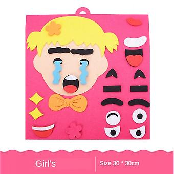 30cm*30cm Diy Toys Emotion Change Puzzle Toys Creative Facial Expression Kids Learning Educational Toys For Children Funny Set