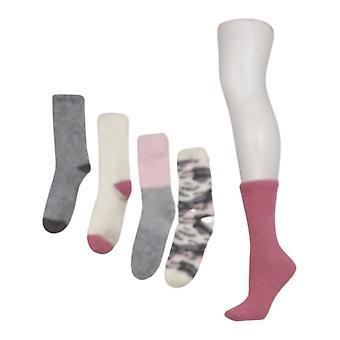 Comfort Code Damen 5er Pack Cozy Crew Socken Graue Socken 718786