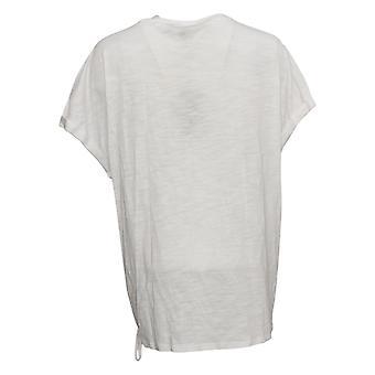 DG2 By Diane Gilman Damen Top Krawatte Farbe Seite Krawatte T-Shirt Weiß 698338