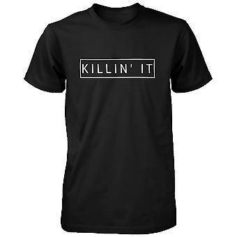 Zabija to śmieszne koszulki graficzny modny czarny T-shirt Ładna Krótki rękaw koszulka