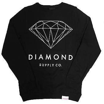 Co de suministro de diamantes diamante brillante sudadera negro