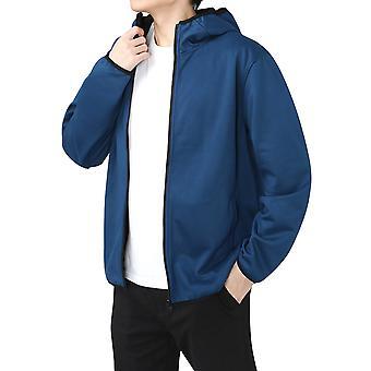 Veste décontractée Yunyun Men's Hooded Solid Color