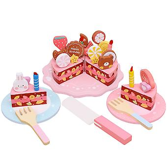 Birthday Party Cake Wooden Play Food Toys For Kids 3+