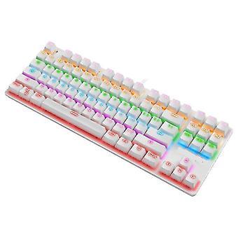Qwert 87-key Usb Wired Mechanical Keyboard Hoogwaardige professionele en gebruiksvriendelijke (zwart)