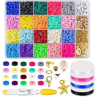 Beads Pendant Charms Kit And  Elastic Strings
