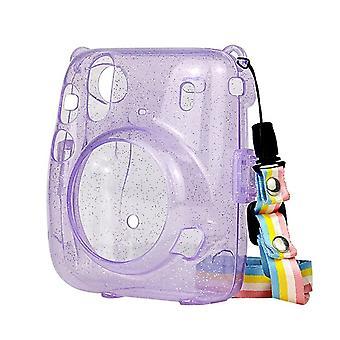 インスタックスミニ11レザーバッグ用トランスペアレントプロテクションシェル用インスタントカメラケース Instax Mini11耐震キャリングケースカバー