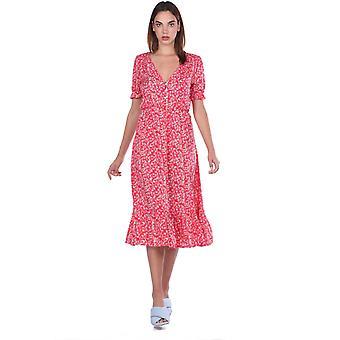 kortermet floral mønster kjole