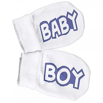Spoilt Rotten Baby Boy Filled Scratch Mittens
