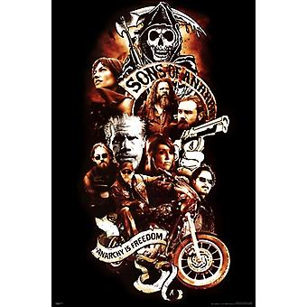 Sons of Anarchy - Collage affiche Poster Print