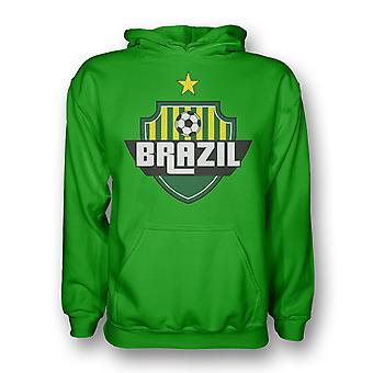Z kapturem kraju Brazylia Logo (zielony) - dla dzieci