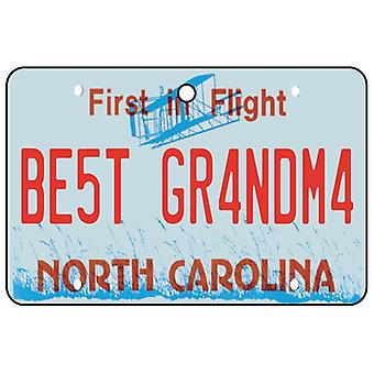 North Carolina - Best Grandma License Plate Car Air Freshener