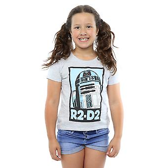 Star Wars Girls R2-D2 juliste t-paita