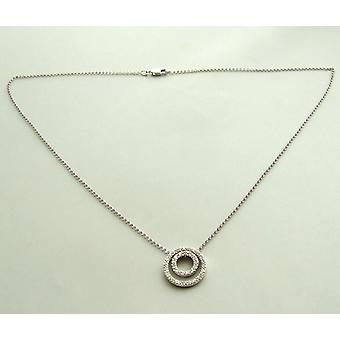 White gold necklace with diamond pendant